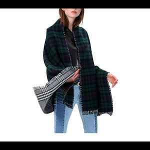 Accessories - Women's Tartan Plaid Blanket Scarf